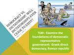Democracy vs. Dictatorship: Will dictatorships ever cease to exist?