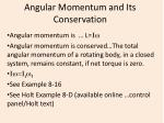 Angular Momentum and Its Conservation