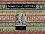Conventions of Epic Poetry