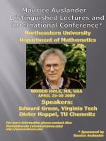 Maurice Auslander Distinguished Lectures and International Conference*