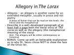 Allegory in The Lorax