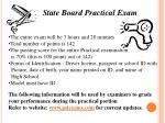 State Board Practical  Exam