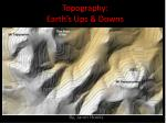 Topography: Earth's Ups & Downs
