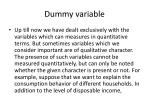 Dummy variable