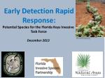 Early Detection Rapid Response: