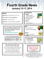 F ourth Grade News January 13-17,  2014
