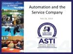 Automation and the Service Company