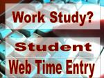 Web Time Entry
