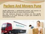 Movers And Packers In Pune