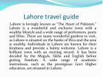 Lahore travel guide