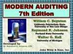 MODERN AUDITING 7th Edition