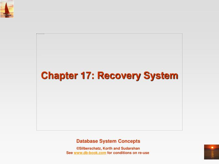 chapter 17 recovery system n.