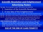 Scientific Revolution and Enlightenment Advertising Posters
