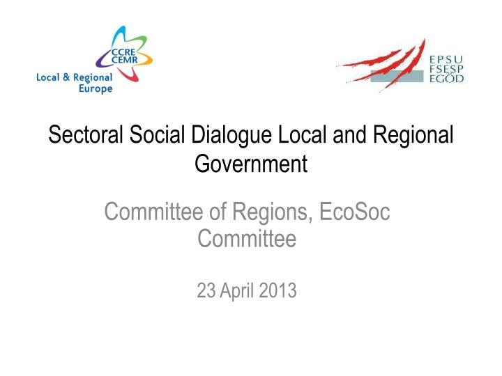 sectoral social dialogue local and regional government n.