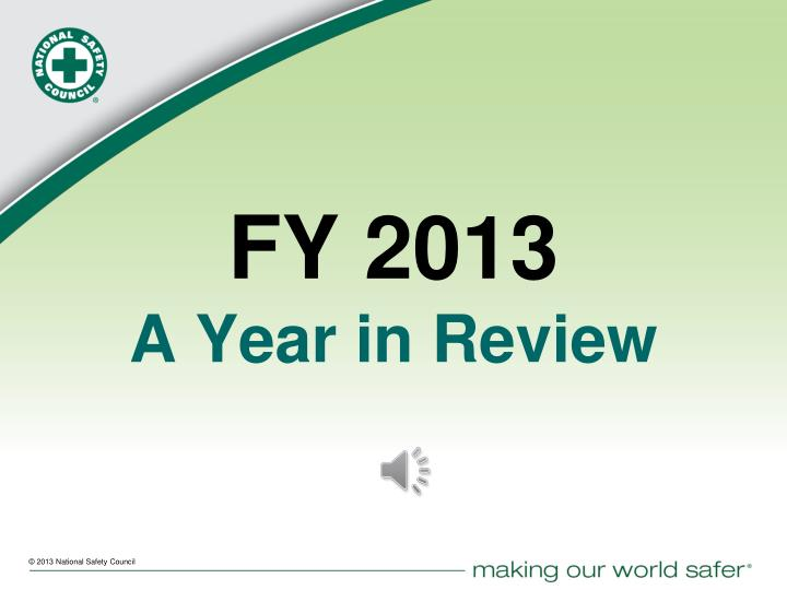 fy 2013 a year in review n.