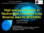 High energy behaviour of Neutron Star Low Mass X-ray Binaries seen by INTEGRAL