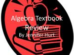 Algebra Textbook  Review