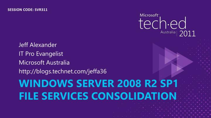 windows server 2008 r2 sp1 file services consolidation n.