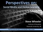 Perspectives on: Social Media and Online Learning