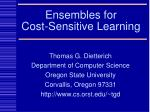 Ensembles for  Cost-Sensitive Learning