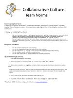 Collaborative Culture: Team Norms
