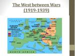 The  West between Wars (1919-1939)