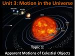 Unit 3: Motion in the Universe