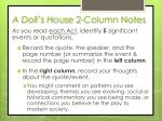A Doll's House 2-Column Notes