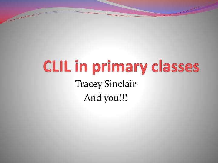 clil in primary classes n.