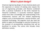 What is plant design?