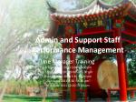 Admin and Support Staff Performance Management
