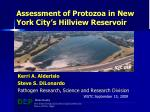 Assessment of Protozoa in New York City's Hillview Reservoir