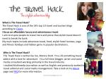 What is The Travel Hack?