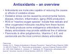 Antioxidants – an overview