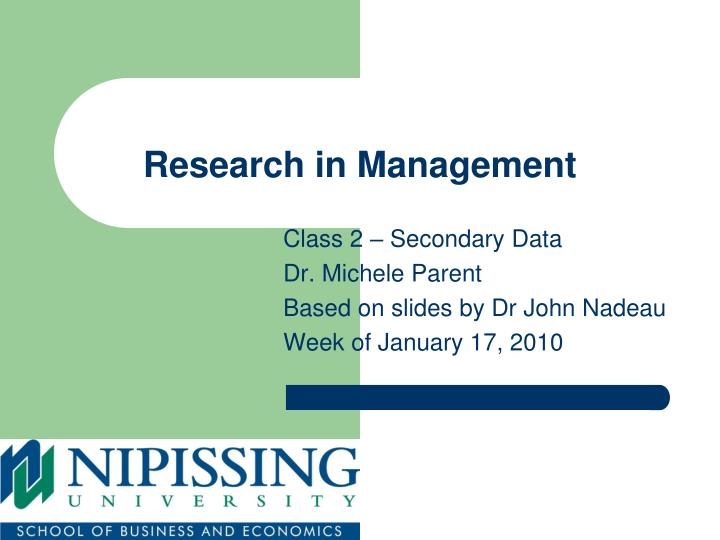 research in management n.