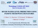 RIVER WATER LEVEL PREDICTION USING PASSIVE MICROWAVE SIGNATURES