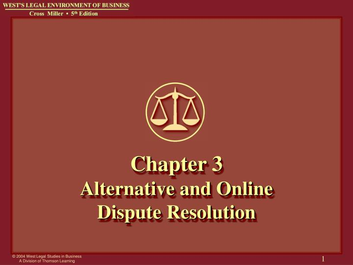 chapter 3 alternative and online dispute resolution n.