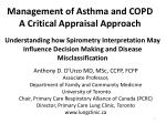 Management of Asthma and COPD A Critical Appraisal Approach