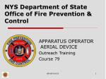 NYS Department of State Office of Fire Prevention & Control