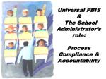 Universal PBIS & The School Administrator's role: Process Compliance & Accountability