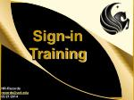 Sign-in Training