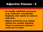 Adjective Clauses - 2