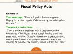 Fiscal Policy Acts