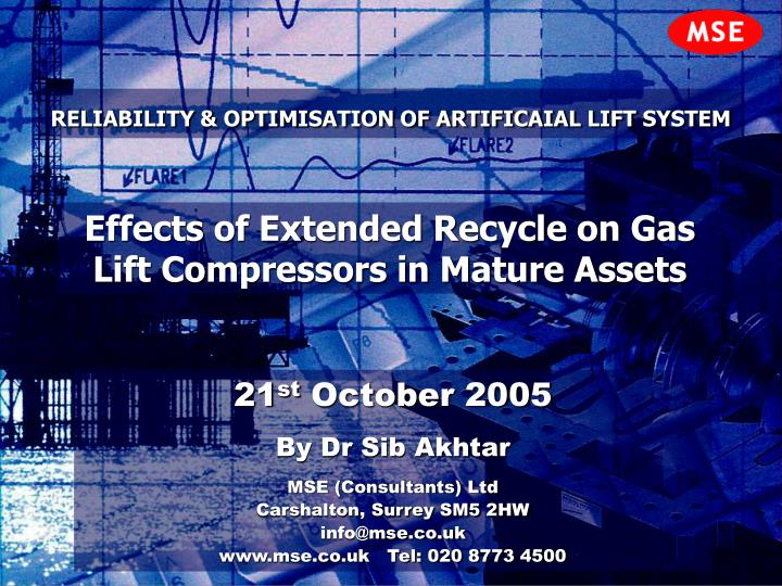 reliability optimisation of artificaial lift system n.