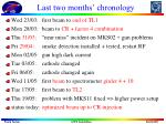 Last two months' chronology