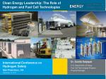 Clean Energy Leadership: The Role of Hydrogen and Fuel Cell Technologies