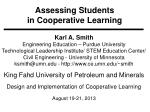 Assessing Students  in Cooperative Learning