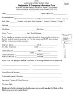 OLA Aftercare & After School Club Registration & Emergency Information Form