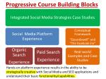 Progressive  Course Building Blocks