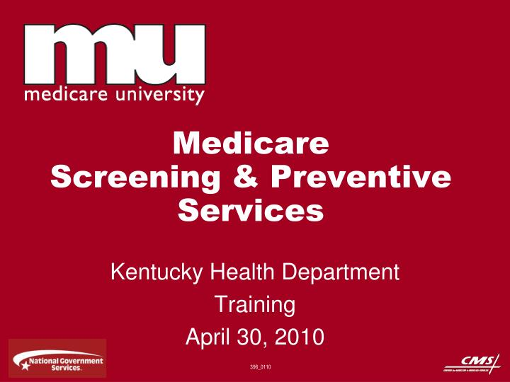 medicare screening preventive services n.